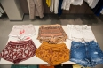 Assorted Bohemian style shorts with intricate embroidery and beading. Priced from $41.90-$72.80. Hi waist shorts also available in denim found in the MANGO boutique.